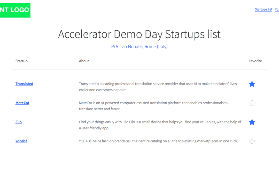 Announcing a free DemoDay App to speed up investments in startups in the EU